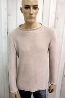 ARMANI JEANS Uomo Taglia 2XL Slim Lino Maglione Casual Man Pullover Sweater