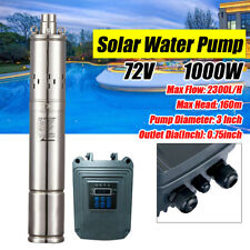 Used72v Solar Submersible Water Pump Deep Well Complete Pump Withmppt Controller