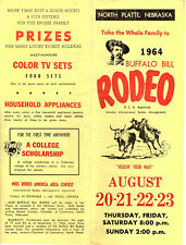 Buffalo Bill Rodeo North Platte Ne 1964 Brochure Ticket Order Form B&W Photos