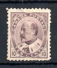 Canada KEVII 1903 10c brown lilac mint MH #93 WS13791