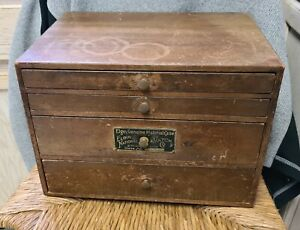 Elgin Genuine Material Case National Watch No. 7543 Wood Counter Display c.1920