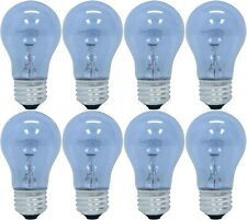 8 BULBS GE LIGHTING 48698 REVEAL® MEDIUM-BASE A15 CEILING FAN BULB, CLEAR, 60W