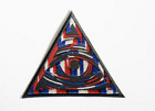 All Seeing Eye Embroidered USA Flag Color on Black Twill Iron or Masonic Patch