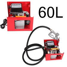 60L/Min Pompa Travaso Gasolio + contalitri + pistola ELETTROPOMPA diesel 550W