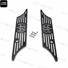 CNC Hard Billet Aluminum Saddlebag Latch Cover Bat For Harley Touring 93-13 BK