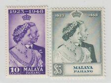 MALAYA PAHANG  1948 ROYAL SILVER WEDDING SG 47/48  MNH PERFECT