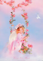 POSTER - PHOTO : LITTLE GIRL IN SWING -   FREE SHIPPING !!  #PP0182   RC34 V