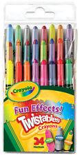 Crayola 24 Mini Twistables Special Effect Crayons Neon Rainbow
