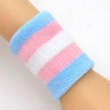 New Transgender LGBT Gay Pride Wrist Band Sweat Rainbow Loop Terry Wristband