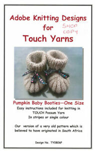 PUMPKIN BABY BOOTIES by Touch Yarns