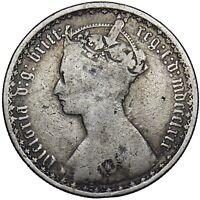 1869 GOTHIC FLORIN - VICTORIA BRITISH SILVER COIN