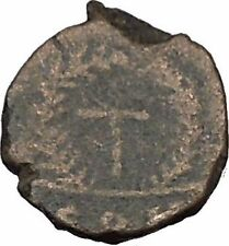 THEODOSIUS II 425AD Authemtic  Ancient Roman Coin Cross within wreath  i37479