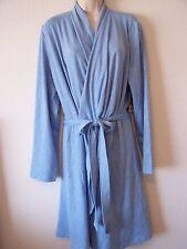 Nautica Womens Kimono Wrap Robe XL S6KR10 Light Ice Blue Jersey Rayon Bath 5a551eaae