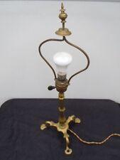 Lampe bronze pietement tripode pied de lampe 19ème