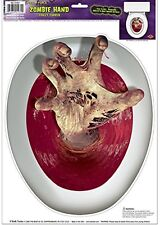 BLOODY HAND TOILET SEAT Grabber Halloween Zombie Decoration Decal Stickers Cover