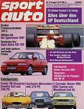 sport auto 8/91 1991 Audi S4 Carlsson C35-24 Ginetta G33 Peugeot 405 Mi 16 968