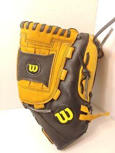 "Wilson Baseball Palm Glove 12"" A0350TR12 Genuine Leather Left Hand Tan/Black"