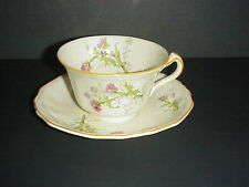 Alfred Meakin Marigold Cup & Saucer Astoria Shape Pink Thistle
