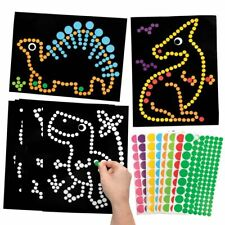 DINOSAUR Dotty Art Stickers Picture Kits Kids Crafts Fun Creative Activity Dots