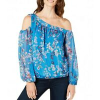 INC NEW Women's Ditsy Flower Asymmetrical Cold-shoulder Blouse Shirt Top TEDO