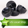 12mm Hex RC 1/10 Scale 4PCS Rubber Tires & Wheel  On-Road Racing Car For HSP HPI