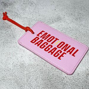 BN Yes Studio Pink & Red Emotional Baggage LuggageTag Suitcase Fun Travel Gift