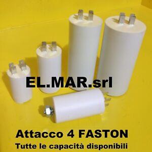 Condensatore x motore elettrico elettropompa da 1 a 150 MF microfarad 450V FAST