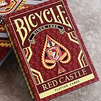 Bicycle Red Castle Playing Cards by Collectable Playing Cards FREE US SHIPPING