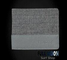 New Nixon Atlas Nylon Showdown Mens Charcoal Bi-Fold Wallet