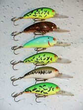 (6) Bomber 7A Cankbait Lures ~ 2 1/2 inch. 1/2 oz.