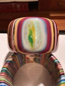 SOBRAL striped multicolor wide 5 cm cuff      2.5 in diameter