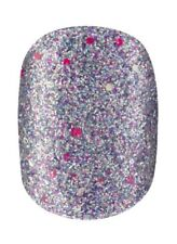 Elegant Touch Glitter Razzle Dazzle, Acrylic Press-On False Nails, Short