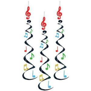 Musical Notes Deluxe Hanging Whirls (3 pack)