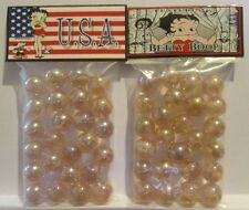 2 Bags Of Betty Boop American Flag USA Promo Marbles