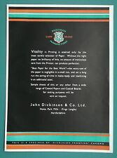 1932 Color Advertisement - John Dickinson Ltd Paper Manufacturers Lion Brand