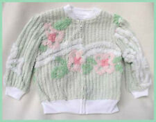 SUPER CUTE! Blue Moon Girls Mint Green Chenille Jacket 3T Kids Clothing NEW!!