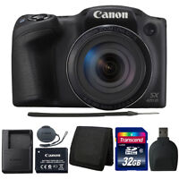 Canon PowerShot SX420 IS 20MP Digital Camera (Black) with 32GB Accessories