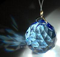 "8558-40mm Medium Sapphire Blue Swarovski Sphere Austrian Crystal Ball Prism 1.5"""