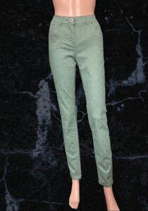 BNWT Yest Light Olive Slim Stretch Jeans Size 10