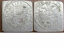 Silber Klippe Ulm 1704 original Belagerungsgulden TOPERHALTUNG !!!