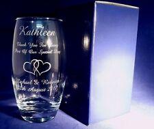 PERSONALISED BRIDESMAID GIFT ENGRAVED LARGE HIGHBALL BARREL GLASS INC GIFT BOX