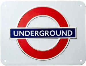 London Underground 'Underground'  Roundel Small Metal Sign (gwc)