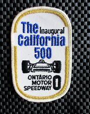 "CALIFORNIA INAUGURAL ONTARIO MOTOR SPEEDWAY PATCH INDIANAPOLIS NASCAR 4 1/2"" x 3"
