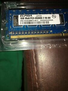 Elpida PC3-8500 1 GB DIMM 1066 MHz DDR3 SDRAM Memory (EBJ10UE8BBF0AEF)