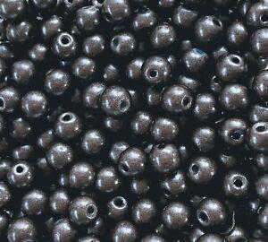 MiPerla * Glasperlen  * Ø 4 mm * 50 Stück * dark-vintage-brown * 49135