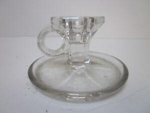 VINTAGE CRYSTAL GLASS CHAMBER CANDLESTICK HOLDER