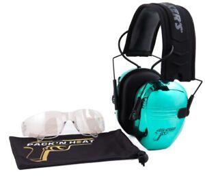 Walker's Chrome Pack'N Heat Series Electronic Earmuff & Glasses Kit