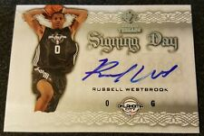 2008-2009 RUSSELL WESTBROOK SP ROOKIE THREADS SIGNING DAY RC AUTO AUTO 2017 MVP!