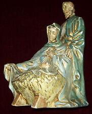 Vtg Nativity Holy Family Mary Joseph Jesus CRECHE Christms Ceramic Atlantic Mold