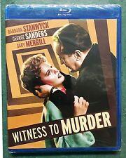Witness to Murder (Blu-ray Disc, 2014) Film Noir Kino Barbara Stanwyck NEW